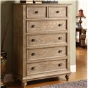 Riverside Furniture Coventry Tall 5 Drawer Chest with Bun Feet - Shown in Room Setting
