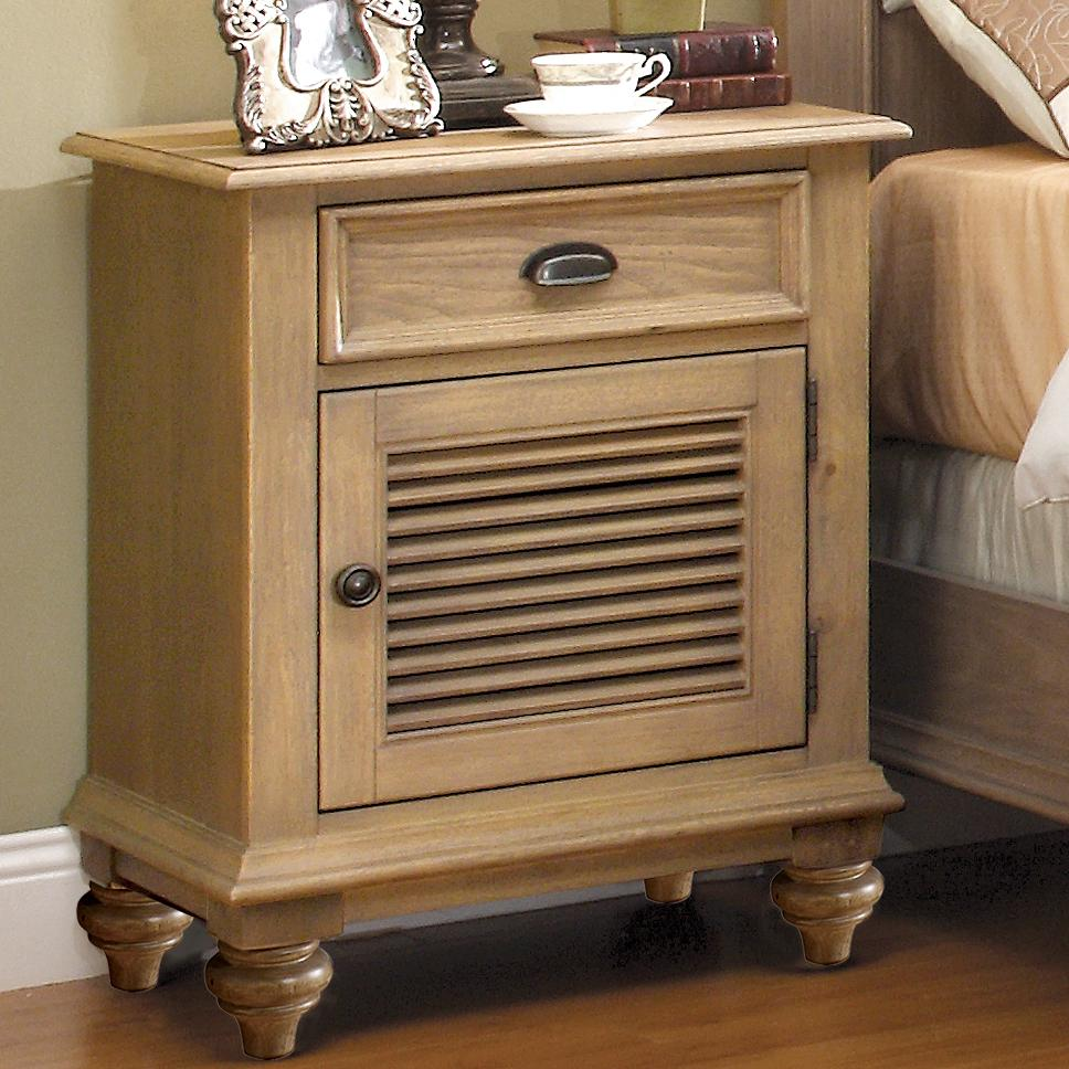 Riverside Furniture Coventry Shutter Door Nightstand With 1 Drawer 2 Shelves Johnny Janosik
