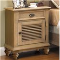 Riverside Furniture Coventry Shutter Door Nightstand with 1 Drawer & 2 Shelves