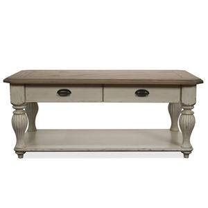 Riverside Furniture Coventry Two Tone Rectangular Cocktail Table