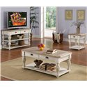 Riverside Furniture Coventry Two Tone Rectangular Cocktail Table with 2 Drawers - Shown with Console Table & End Table