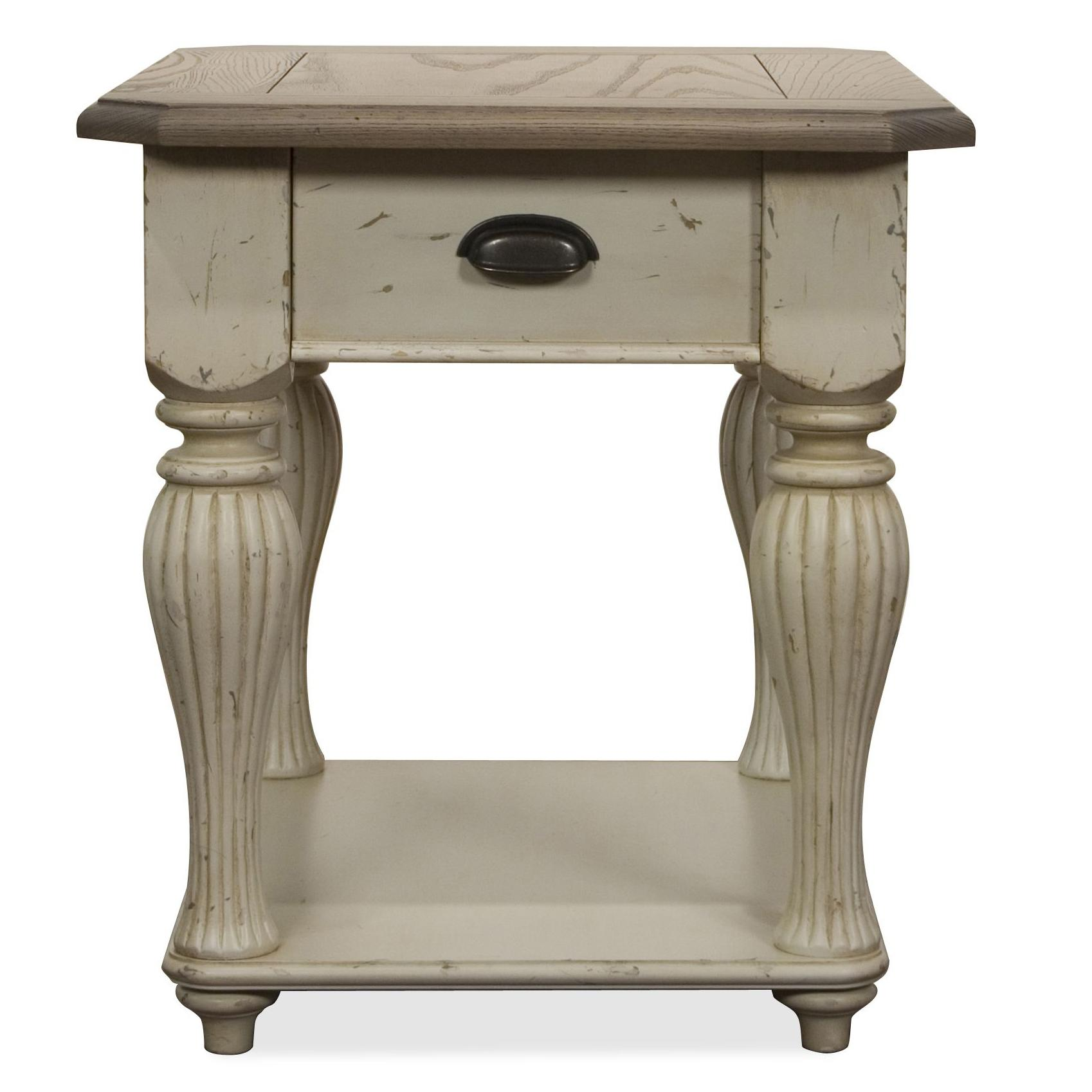 Riverside Furniture Coventry Two Tone Rectangular End Table - Item Number: 32509