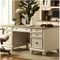 Riverside Furniture Coventry Two Tone Executive Desk with 7 Drawers - 32535