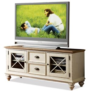 Riverside Furniture Coventry Two Tone TV Console