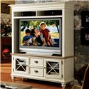 Riverside Furniture Coventry Two Tone 2 Drawer TV Console with 2 Framed Glass Doors
