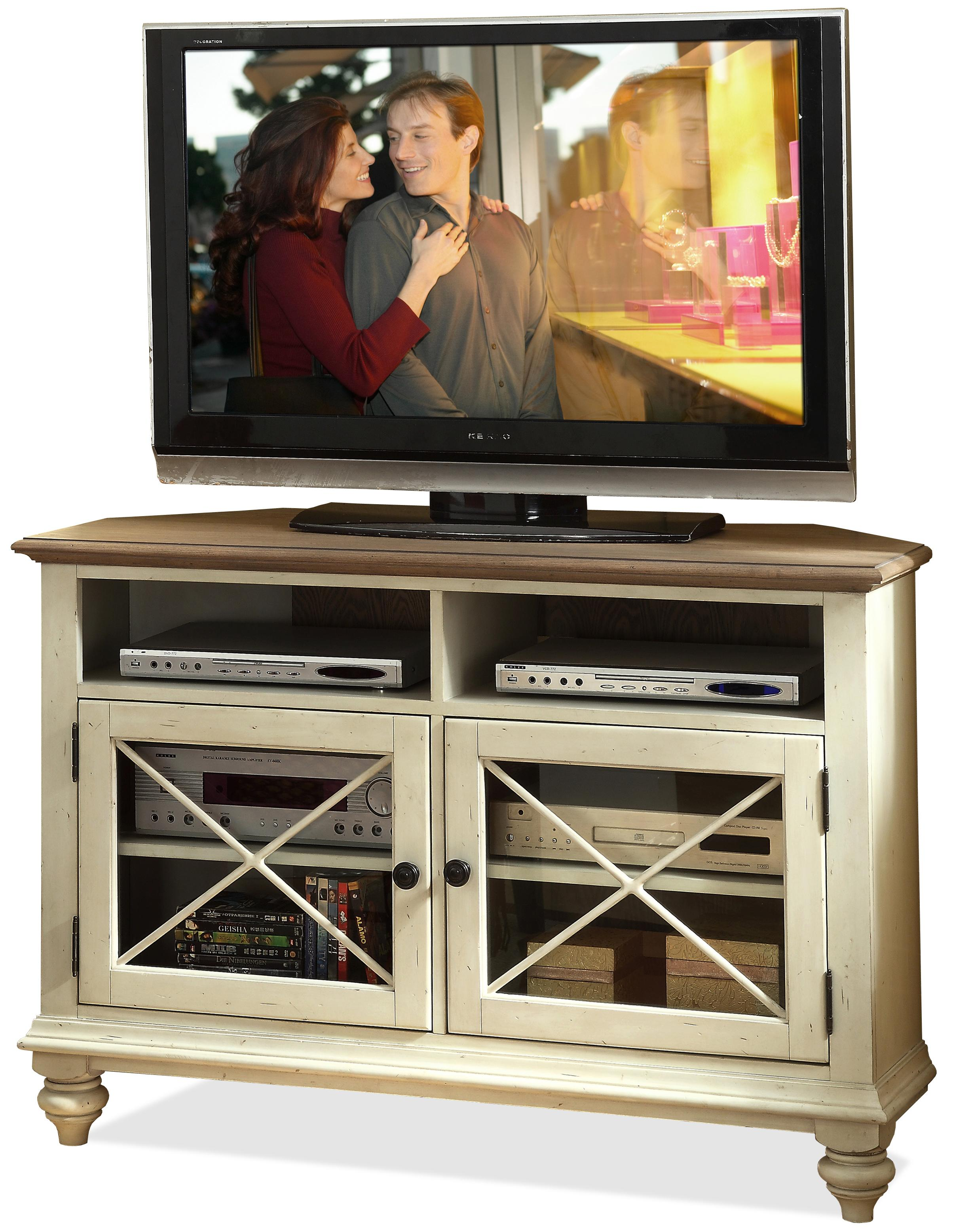 Riverside Furniture Coventry Two Tone Corner TV Console - Item Number: 32544
