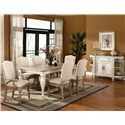Riverside Furniture Coventry Two Tone Rectangular Leg Dining Table with 18