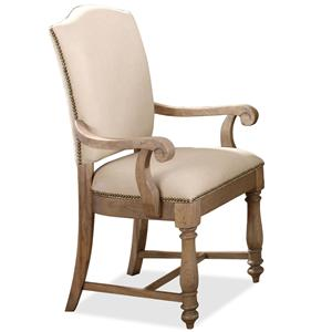 Riverside Furniture Coventry Two Tone Upholstered Arm Chair