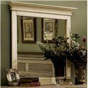 Riverside Furniture Coventry Two Tone Framed Mirror with Beveled Edge
