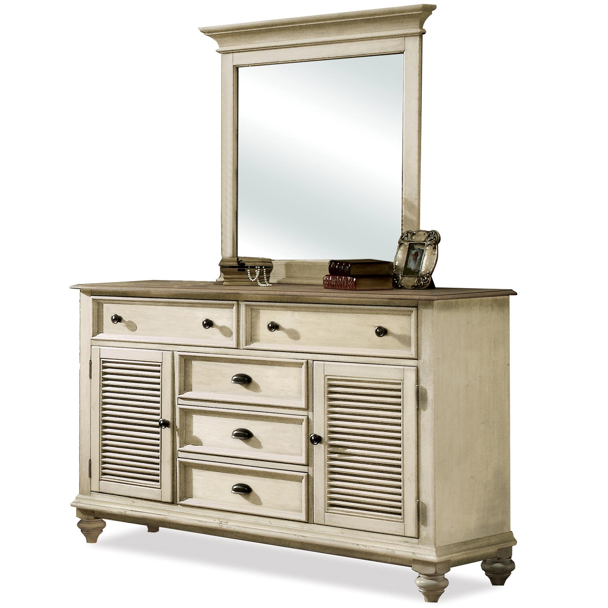 Riverside Furniture Coventry Two Tone Dresser & Mirror  - Item Number: 32560+61