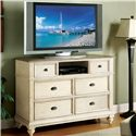 Riverside Furniture Coventry Two Tone 6 Drawer Entertainment Chest