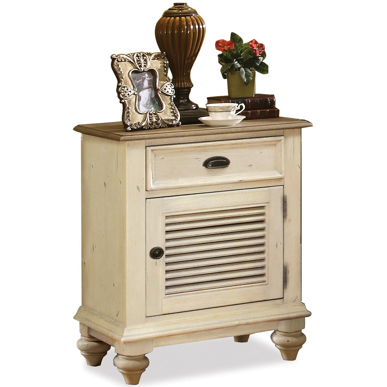 Riverside Furniture Coventry Two Tone Shutter Door Nightstand - Item Number: 32569
