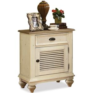 Riverside Furniture Coventry Two Tone Shutter Door Nightstand