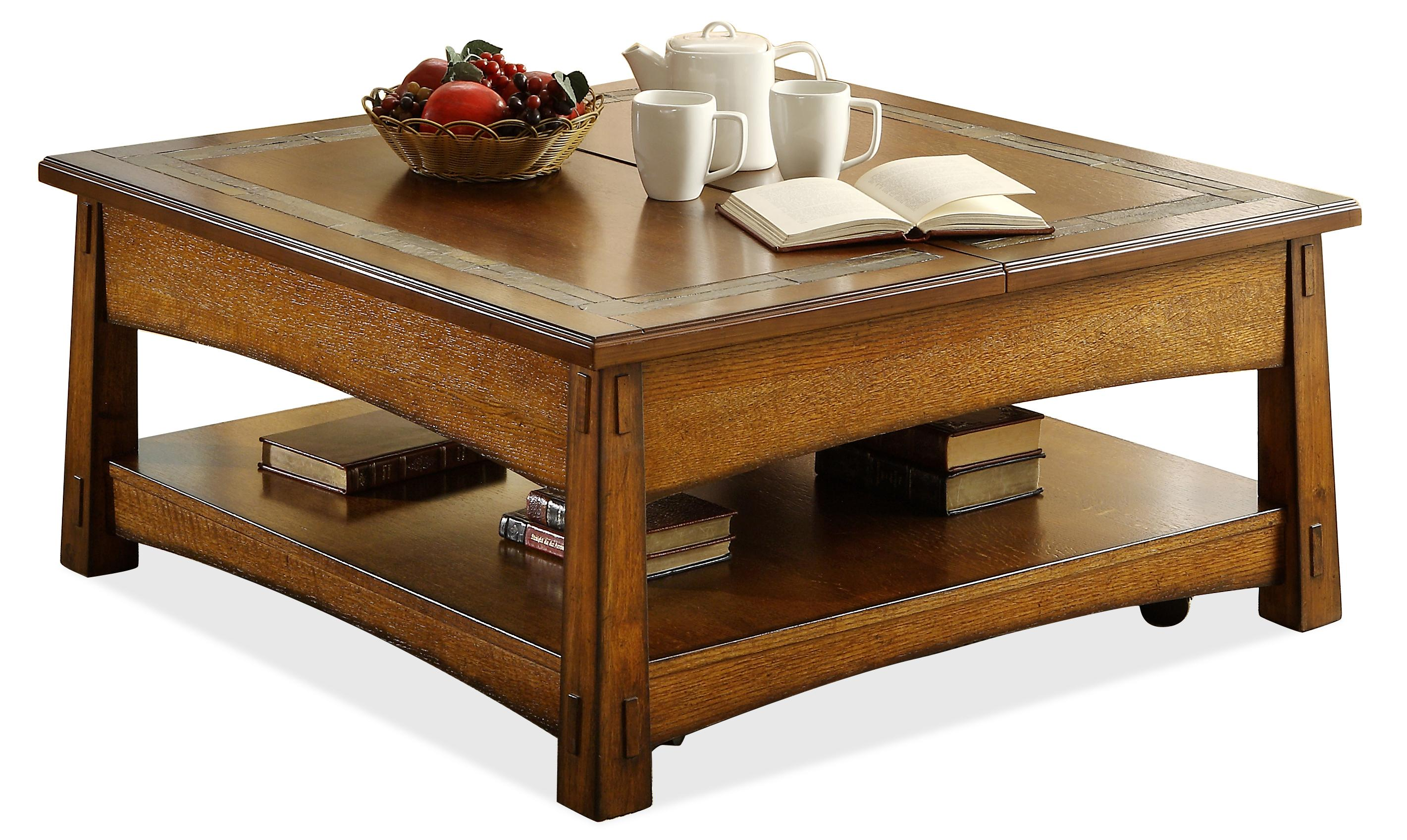 Riverside Furniture Craftsman Home Square Lift Top Cocktail Table