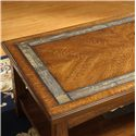 Riverside Furniture Craftsman Home Rectangular Coffee Table with a Slate Tile Boarder - Slate Tile Boarder