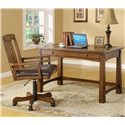 Riverside Furniture Craftsman Home Writing Desk - 2927 - Shown with Game Chair