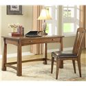 Riverside Furniture Craftsman Home Writing Desk - Shown with Love Chair