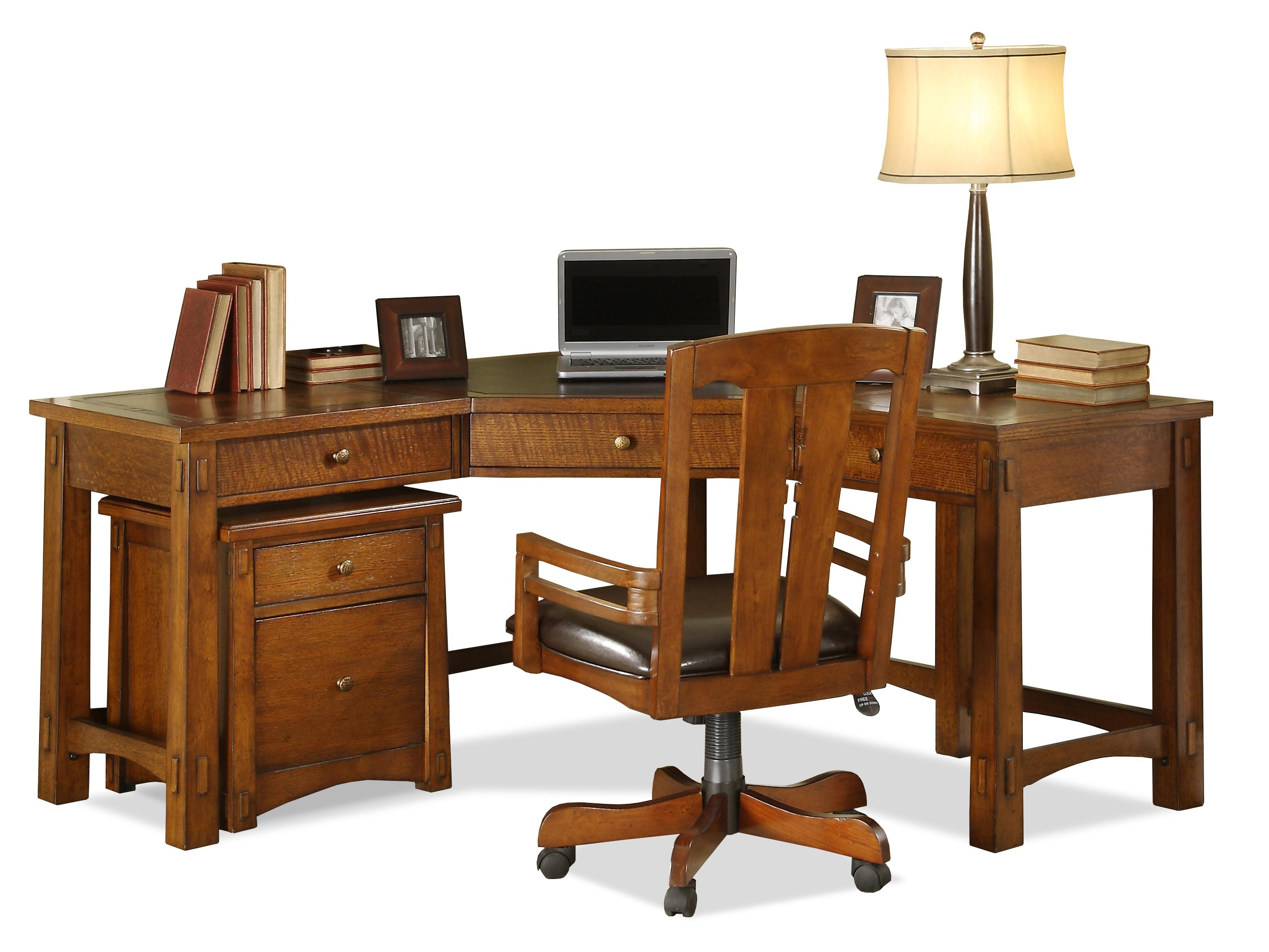 Riverside Furniture Craftsman Home Corner Desk   Item Number: 2930