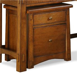 Riverside Furniture Craftsman Home Mobile File Cabinet