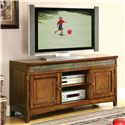 Riverside Furniture Craftsman Home 2 Door TV Console with Front Slate Tile Inlay - Shown in Room Setting