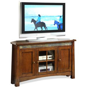 Riverside Furniture Craftsman Home Corner TV Console