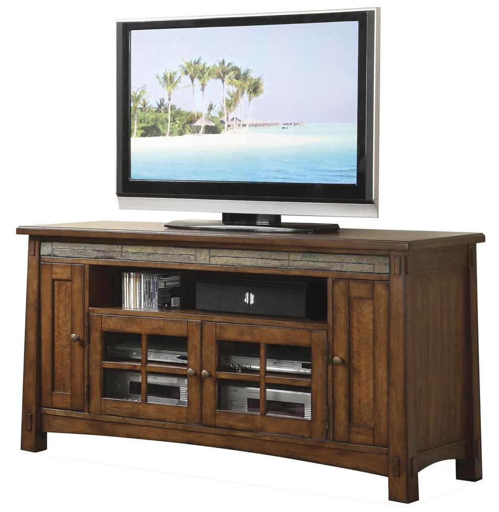 Riverside Furniture Craftsman Home 62 Inch TV Console   AHFA   TV Stands  Dealer Locator