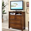Riverside Furniture Craftsman Home Entertainment Dresser with 2 Media Shelves - 2963 - Shown in Room Setting