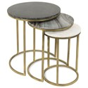 Riverside Furniture Dainna Nesting Side Tables - Item Number: 33709+33711