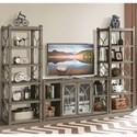 Riverside Furniture Dara II Five Shelf Etagere with Decorative Metal Lattice