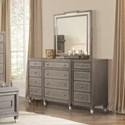 Riverside Furniture Dara II 12 Drawer Dresser with Mirrored Accents
