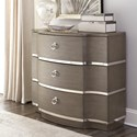 Riverside Furniture Dara II Three Drawer Bachelors Chest with Mirrored Accents