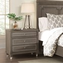 Riverside Furniture Dara II 3 Drawer Nightstand with Mirrored Accents