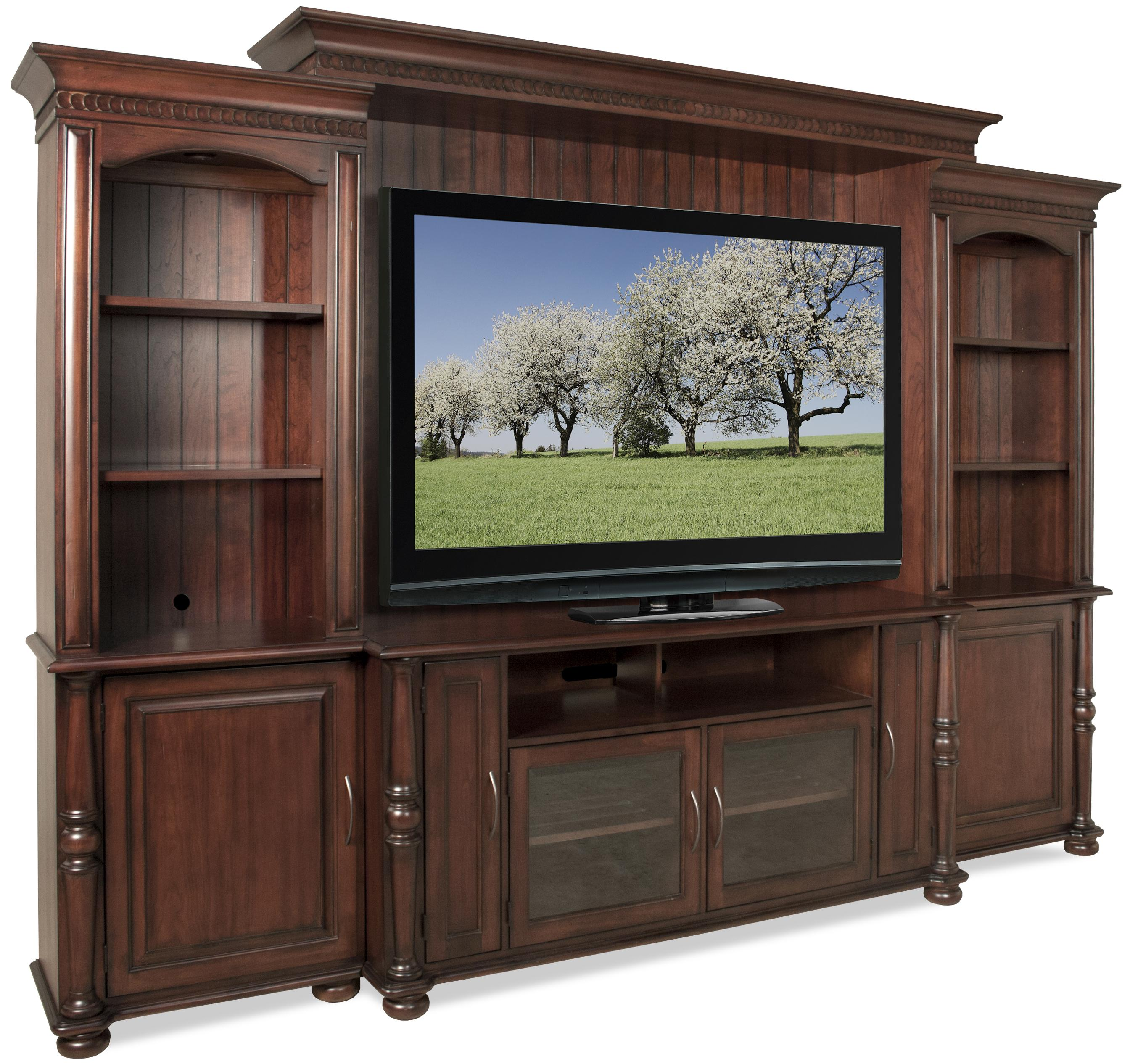Dunmore Pier Entertainment Wall Unit With 6 Doors And 2 Piers By Riverside  Furniture