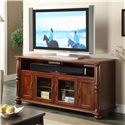 Riverside Furniture Dunmore 60-Inch TV Console with 2 Glass Doors and 2 Panel Doors - 65645