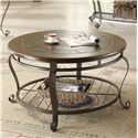Riverside Furniture Eastview Round Coffee Table w/ Shelf