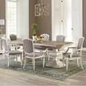 Riverside Furniture Elizabeth 7 Piece Table and Chair Set - Item Number: 71650+1+2x57+4x56