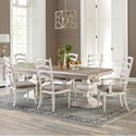 Riverside Furniture Elizabeth 7 Piece Table and Chair Set - Item Number: 71650+1+2x59+4x58