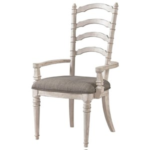 Upholstered Ladderback Arm Chair