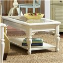 Riverside Furniture Essex Point Rectangular Coffee Table - 1104S - Beveled Glass Top