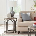 Riverside Furniture Estelle Contemporary Rustic Round End Table with Reclaimed Wood Top