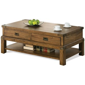 Riverside Furniture Falls Creek Rectangle Cocktail Table
