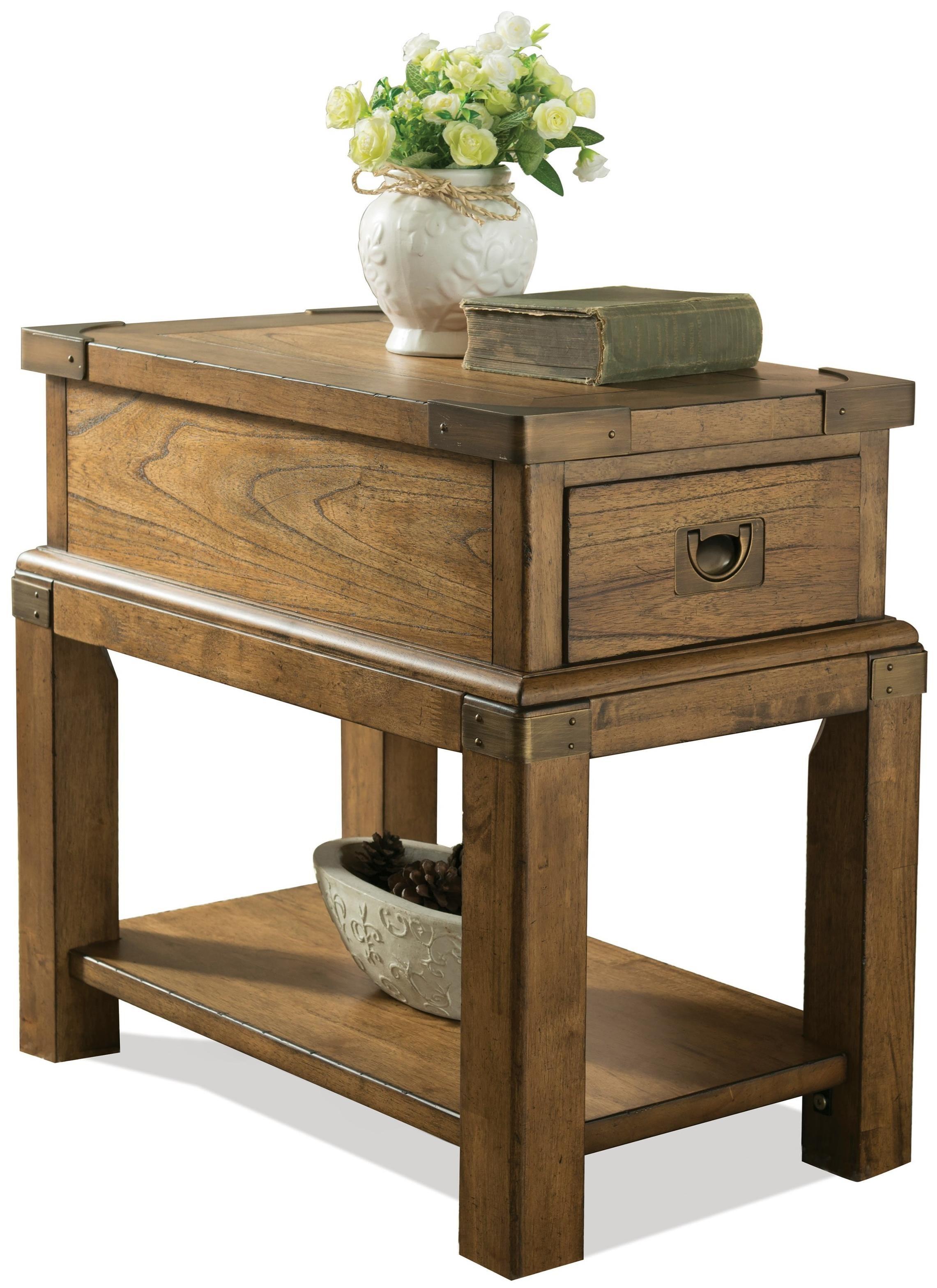 Riverside Furniture Falls Creek Chairside Table - Item Number: 16112