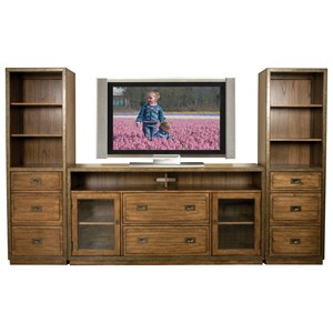 Riverside Furniture Falls Creek TV Console and Piers