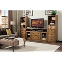 Riverside Furniture Falls Creek TV Console and Piers with 8 Drawers
