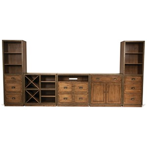Riverside Furniture Falls Creek Theater Wall Unit