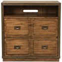Riverside Furniture Falls Creek 4 Drawer Storage Unit with Open Electronic Storage Area