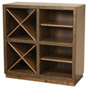 Riverside Furniture Falls Creek Open Storage Unit with 2 Removable Wine Racks