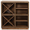 Riverside Furniture Falls Creek Open Storage Unit with 2 Removable Wine Racks
