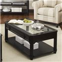 Riverside Furniture Farrington Rectangle Cocktail Table with Glass Top - 40803