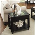 Riverside Furniture Farrington Beveled Edge Glass Top End Table